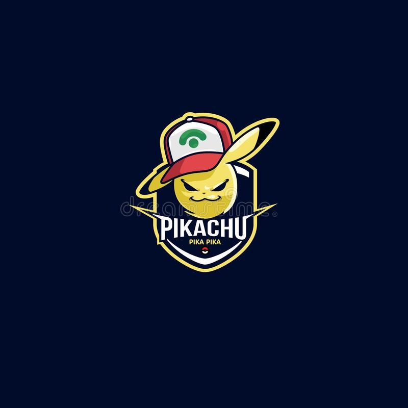 Emblème jaune de logo de sport de foudre de tonnerre pour l'équipe de football photos libres de droits