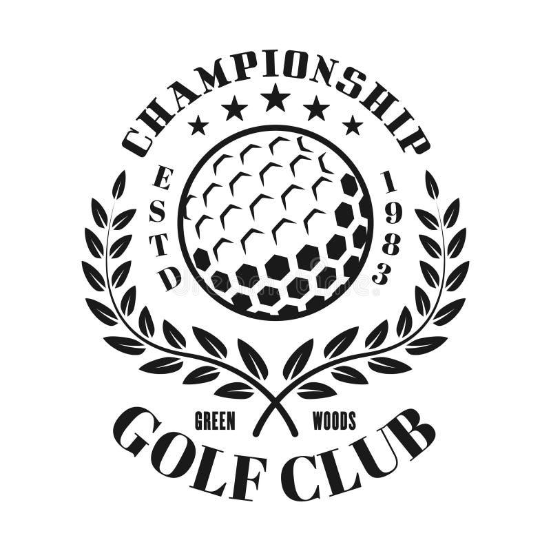 Emblème, label, insigne ou logo de vecteur de club de golf illustration de vecteur