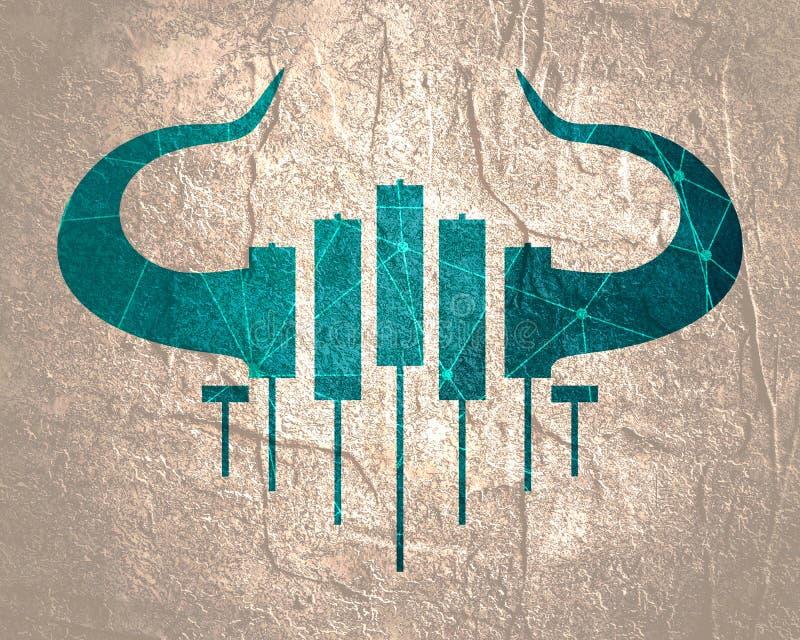 Emblème marchand de chandelier illustration stock