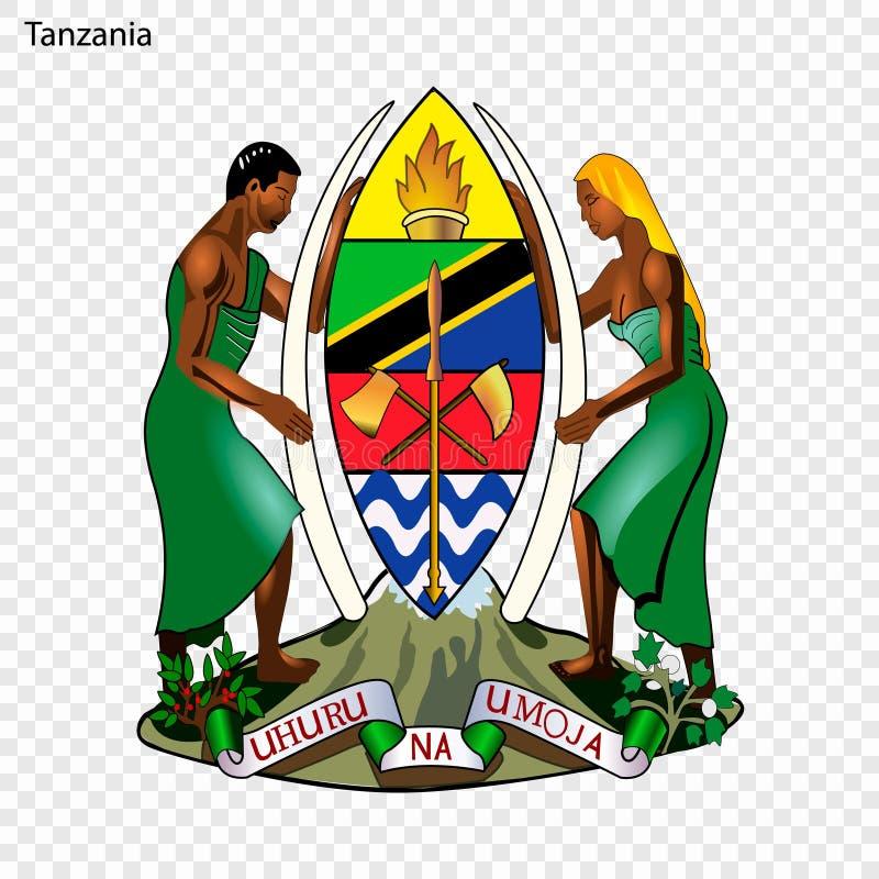 Emblème national ou symbole illustration stock