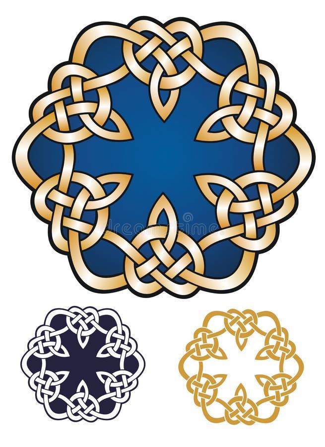 Emblème noué de style celtique illustration de vecteur