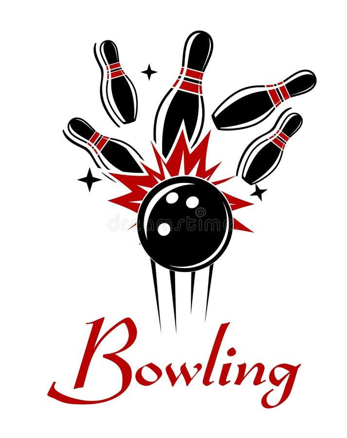 Emblème ou logo de bowling illustration libre de droits
