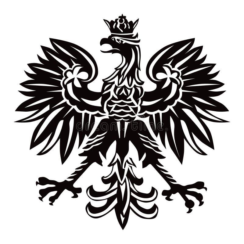 Emblème polonais dans la couleur noire illustration de vecteur