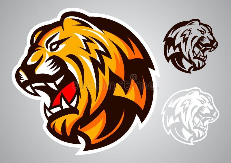 Emblème principal de vecteur de logo de tigre illustration de vecteur