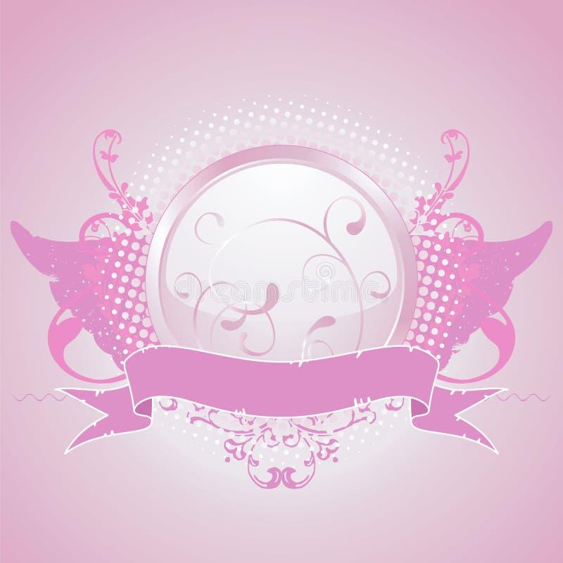 Emblème rose, élément de conception illustration de vecteur