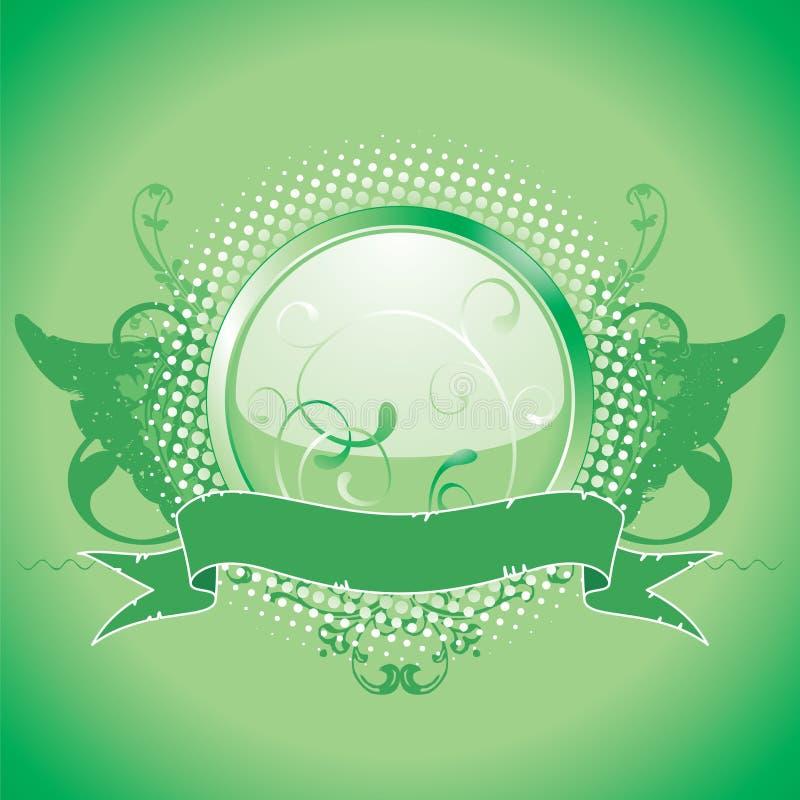 Emblème vert, élément de conception illustration libre de droits