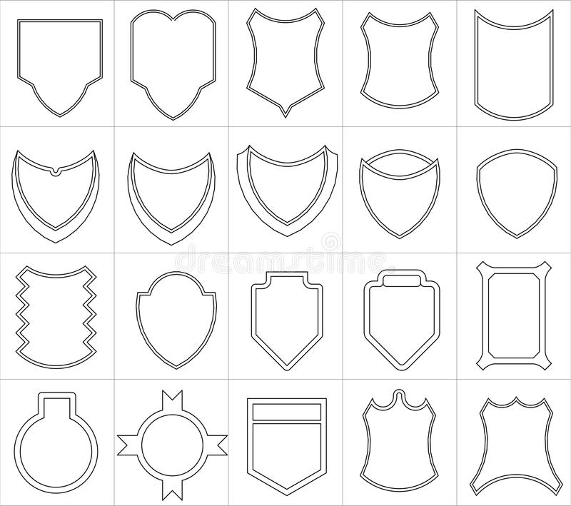 Emblèmes illustration stock