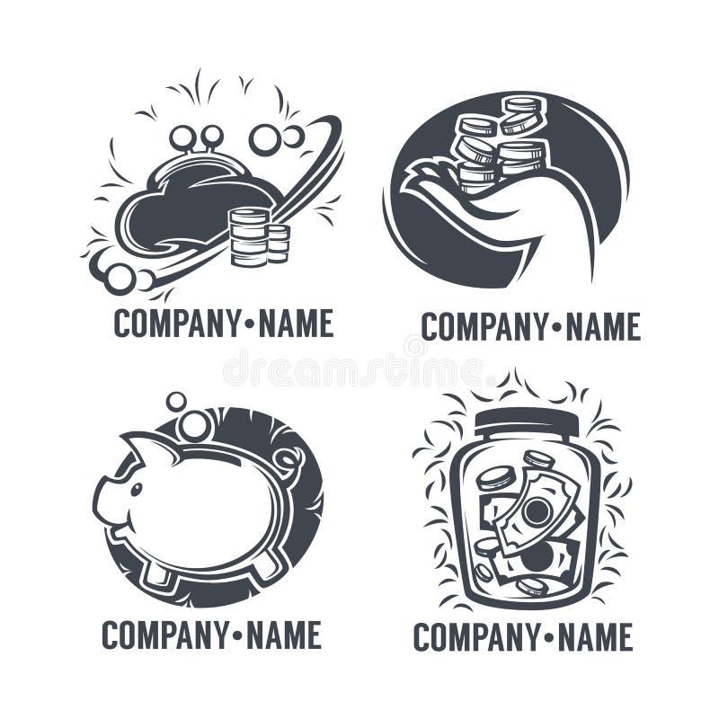 Emblèmes d'opérations bancaires illustration libre de droits