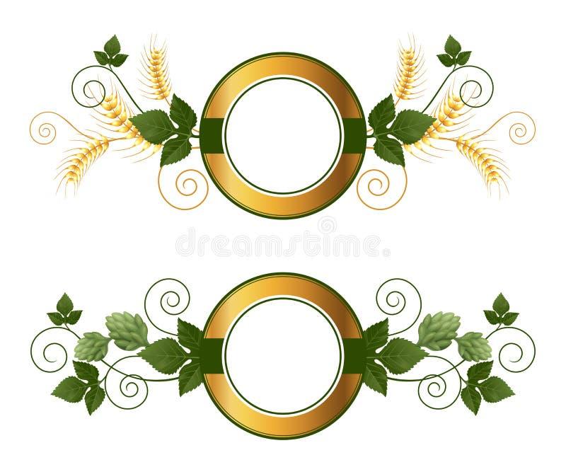 Emblèmes de bière illustration de vecteur