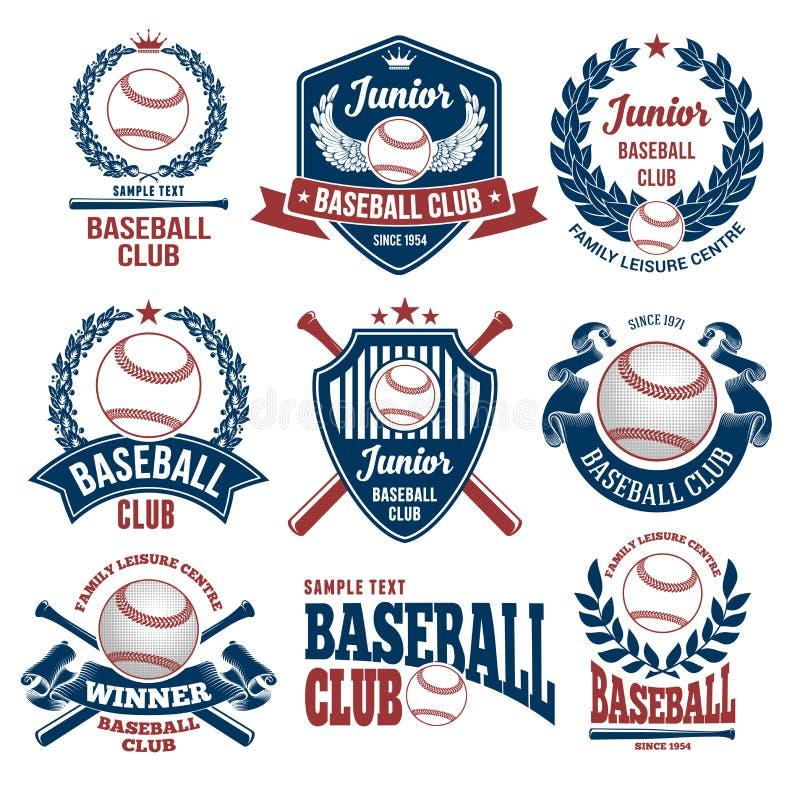 Emblèmes de club de base-ball illustration libre de droits