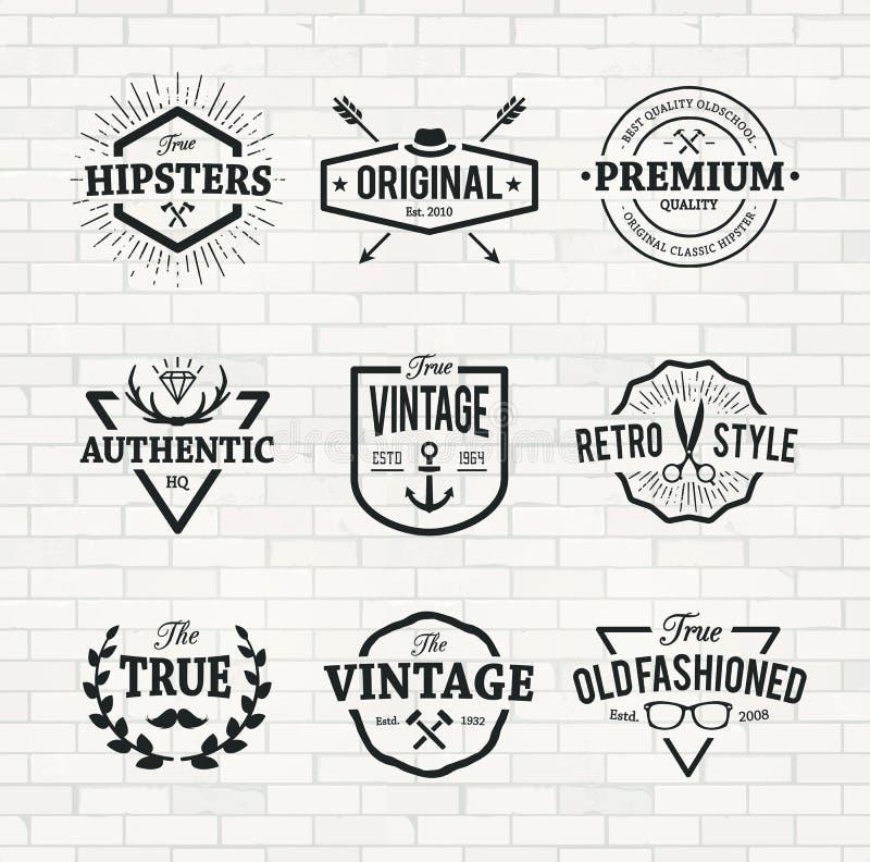Emblèmes de hippie illustration stock