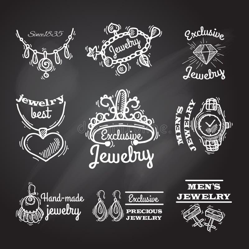 Emblèmes de tableau de bijoux illustration libre de droits