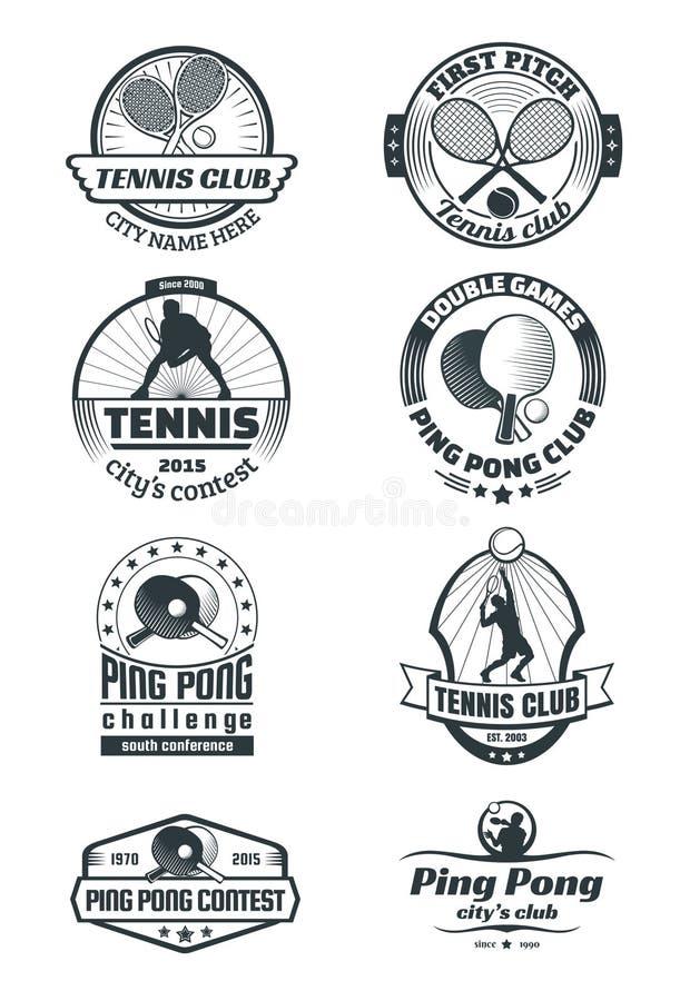 Emblèmes de tennis illustration stock