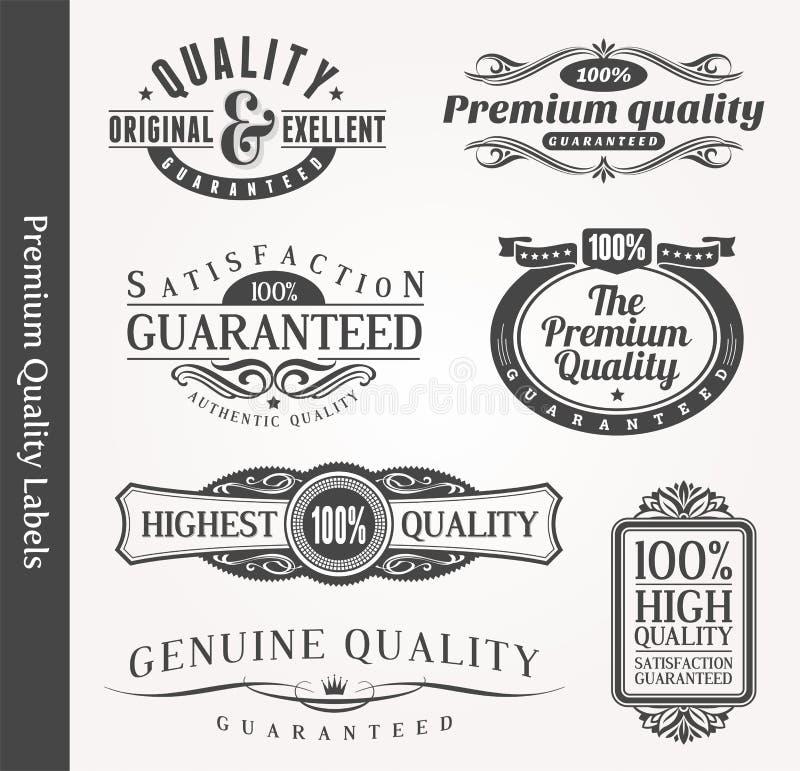 Emblèmes ornementaux décoratifs de qualité illustration stock