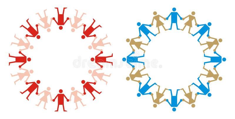 Embleem - de Menselijke Stijl van de Ketting stock illustratie