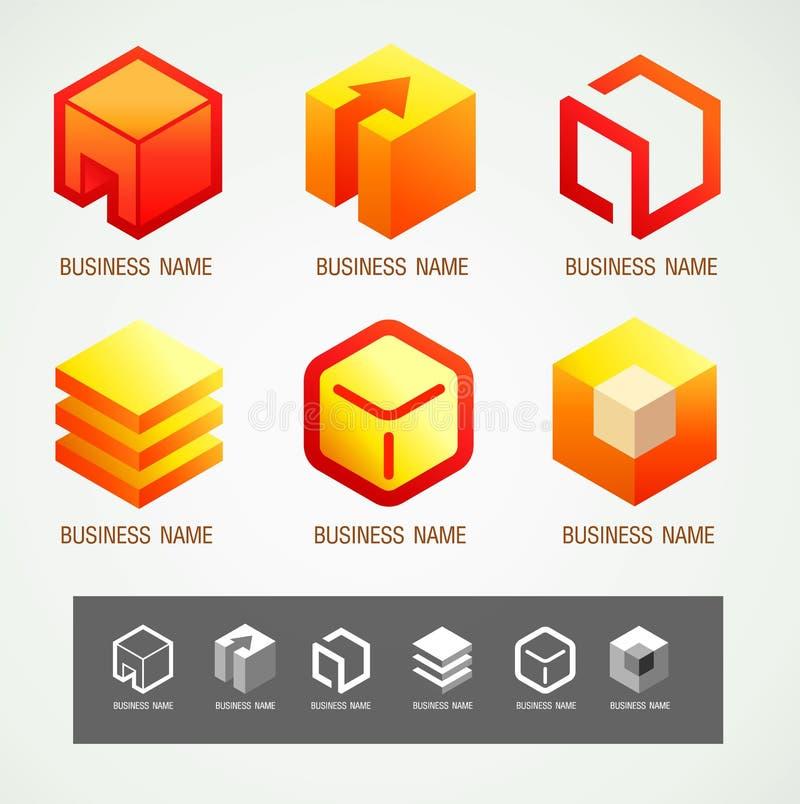 Embleem en Symbool het concept van de ontwerpdoos stock illustratie