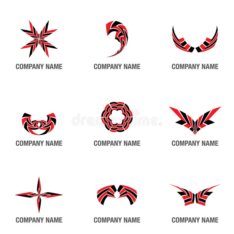 Embleem en symboolvormen stock illustratie