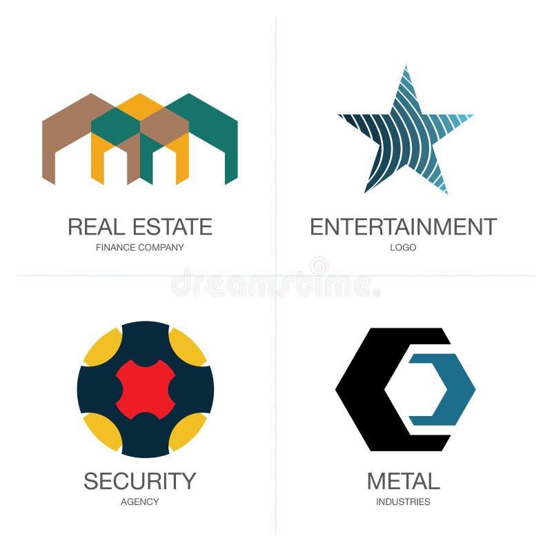 Embleem en symboolvormen vector illustratie