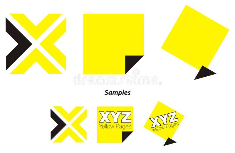 Embleem - gele pagina'sfolder vector illustratie