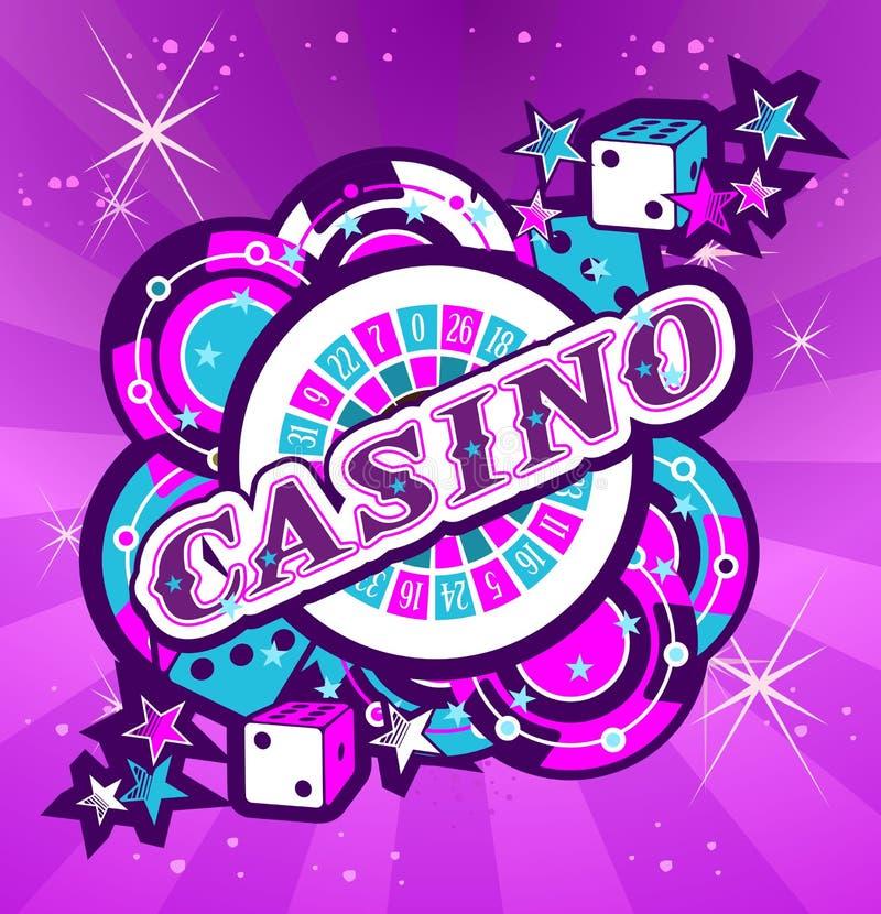 Embleem het gokken casino's royalty-vrije illustratie