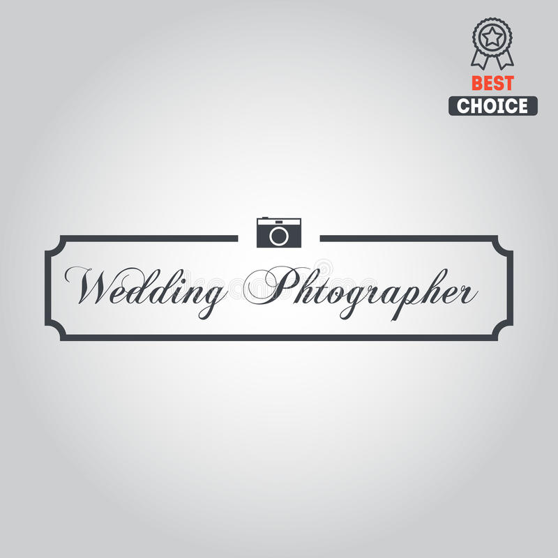 Embleem, kenteken, embleem of etiket voor foto stock illustratie