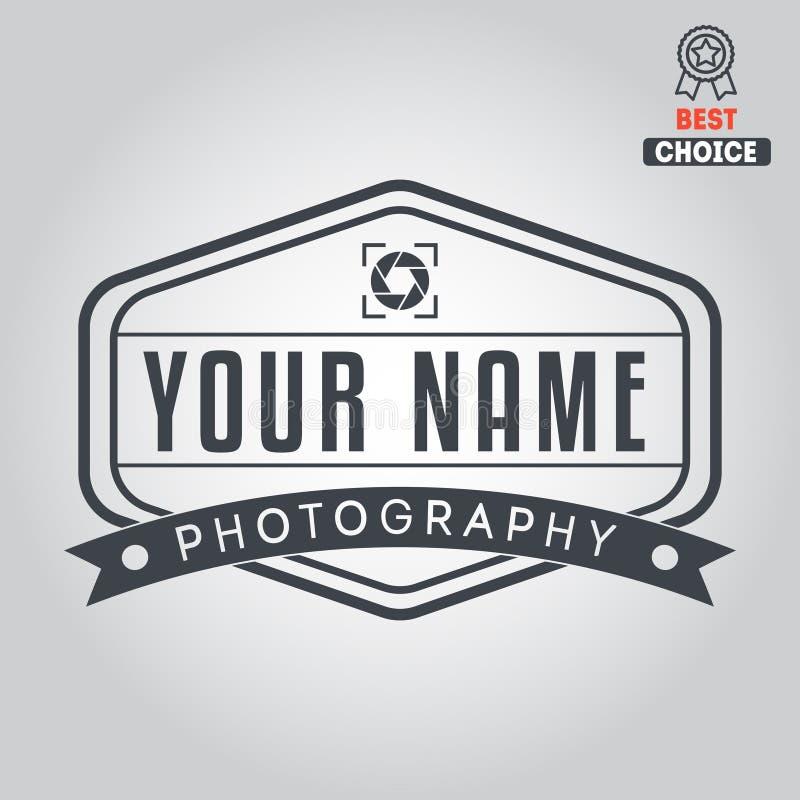 Embleem, kenteken, embleem of etiket voor foto vector illustratie