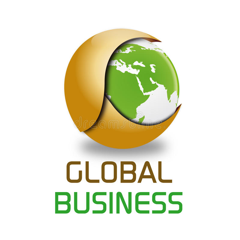 Globaal bedrijfsembleem royalty-vrije illustratie
