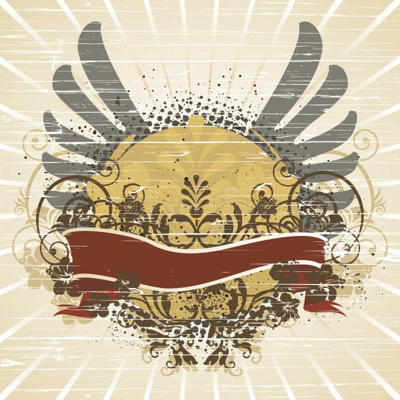 Embleem, ontwerpelement stock illustratie