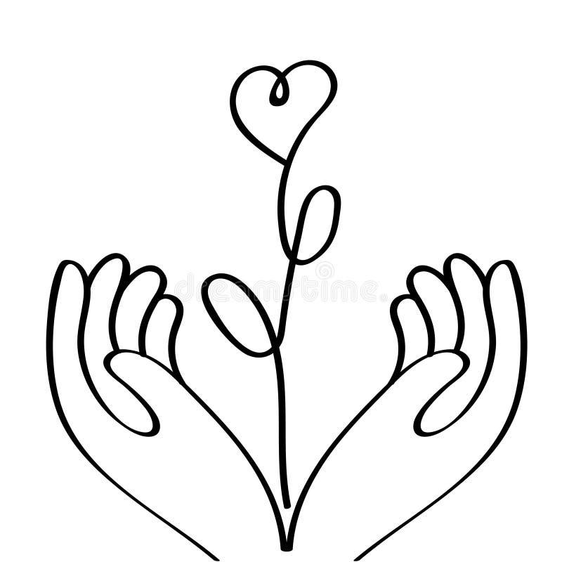 Embleem op het thema van familie en liefde royalty-vrije illustratie