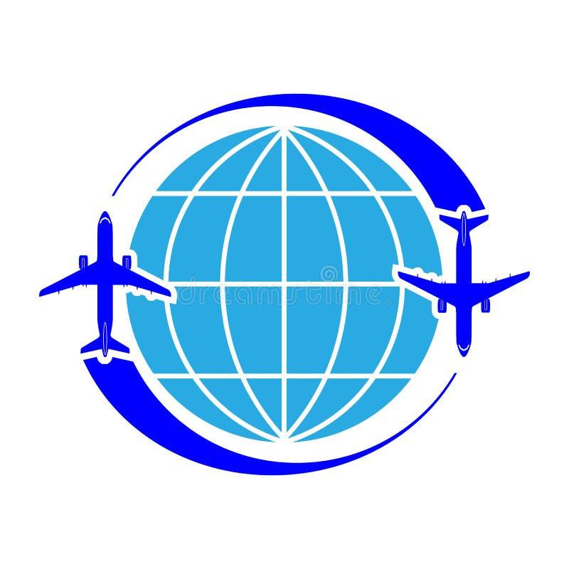 Embleem op het thema van luchtvaart Naadloos vectorpatroon royalty-vrije illustratie