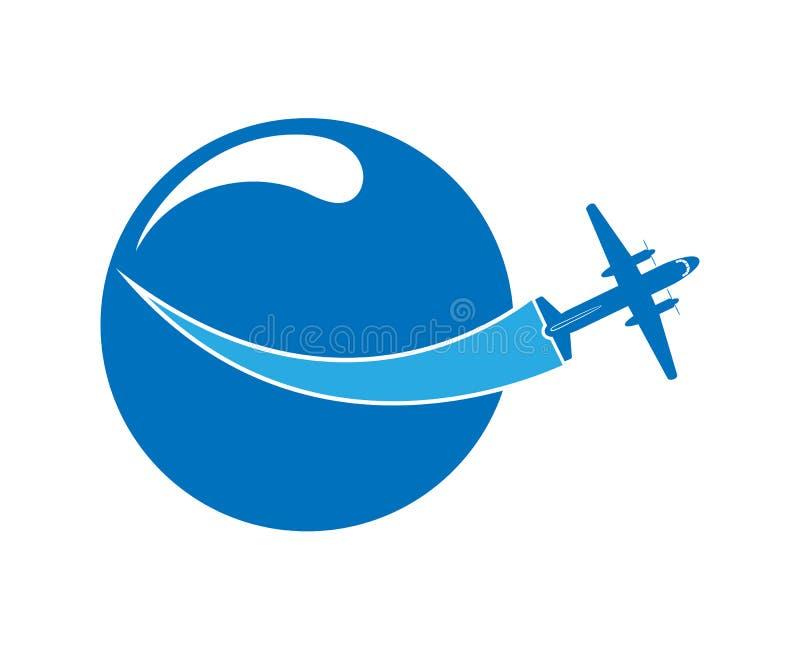 Embleem op het thema van luchtvaart, reis en toerisme royalty-vrije illustratie