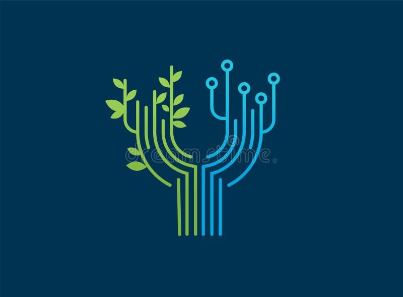 Embleem - technologie, technologie-pictogram en symbool vector illustratie