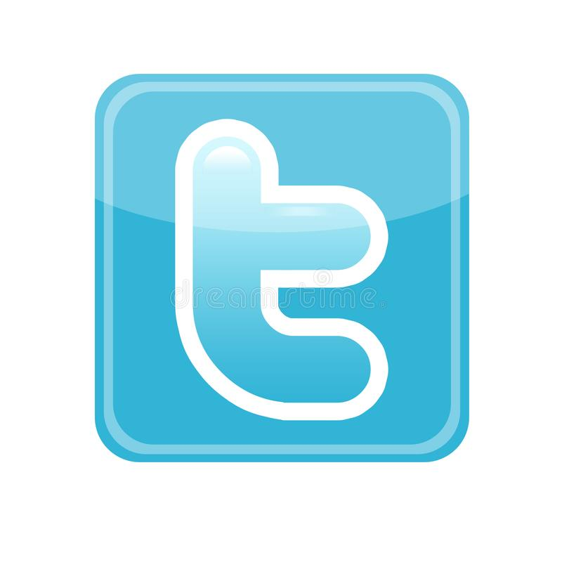 embleem Twitter vector illustratie