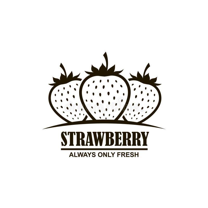 Embleem van aardbeien vector illustratie