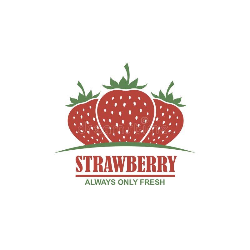 Embleem van aardbeien stock illustratie