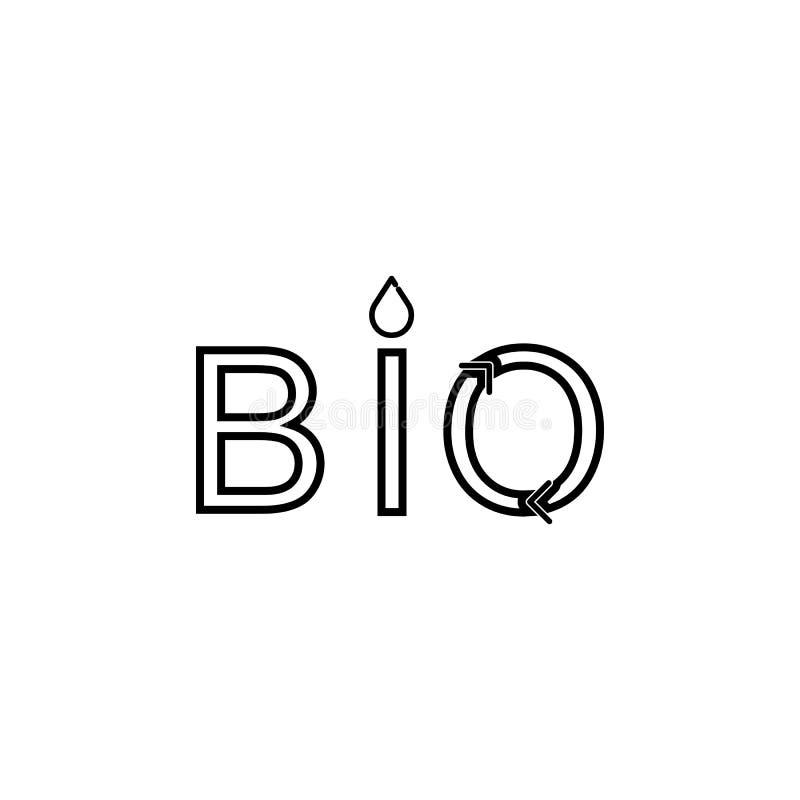 Embleem van BIO, organisch, natuurlijk groen embleempictogram royalty-vrije illustratie