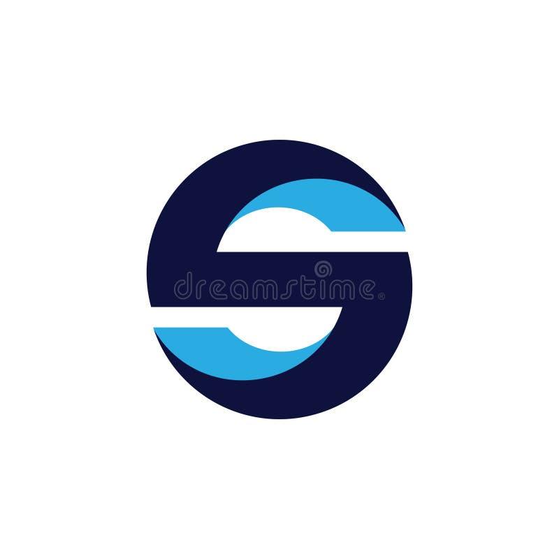 Embleem van de brievens 3d geometrische cirkel stock illustratie