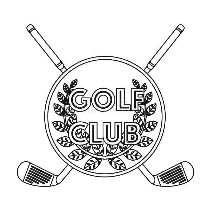 Embleem van de golfclub Golfclub enig pictogram in van de het symboolvoorraad van de overzichtsstijl vector de illustratieweb vector illustratie