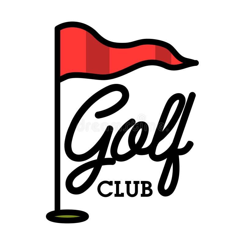 Embleem van de kleuren het uitstekende golfclub stock illustratie