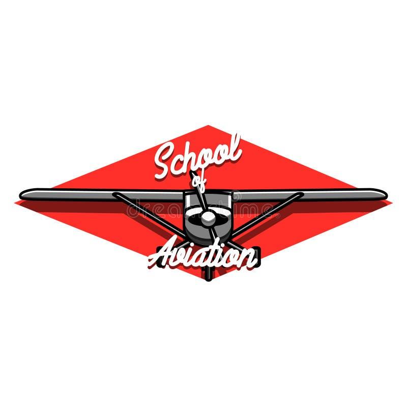 Embleem van de kleuren het uitstekende Luchtvaart stock illustratie