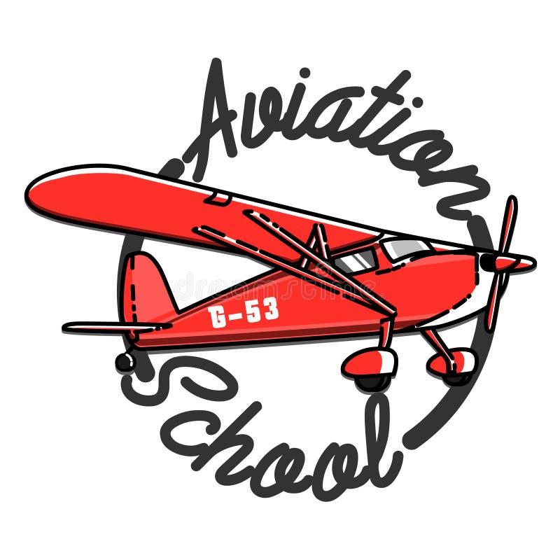 Embleem van de kleuren het uitstekende Luchtvaart vector illustratie