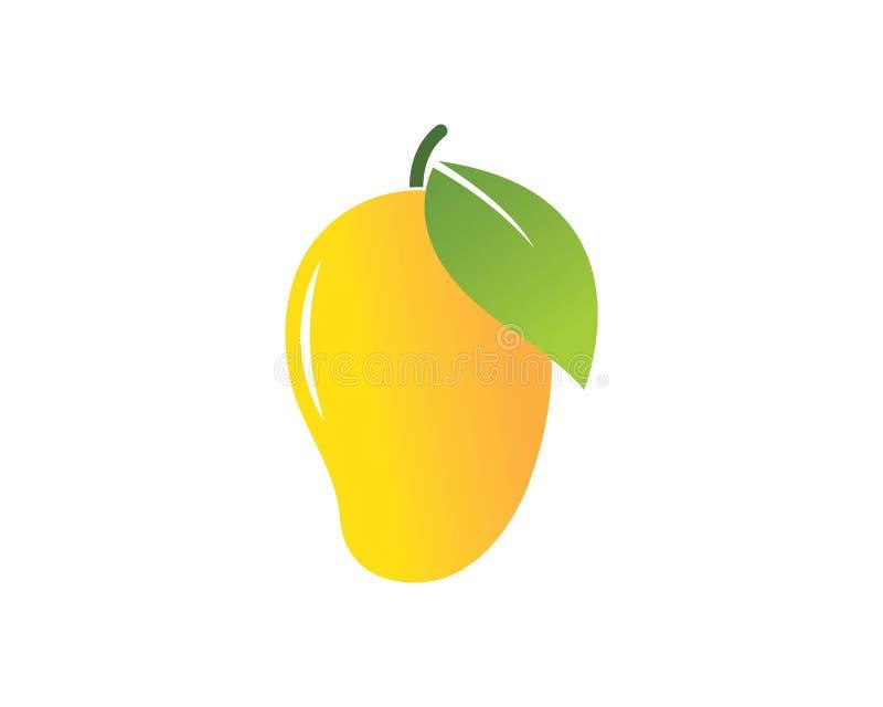 embleem van de mango het vectorillustratie royalty-vrije illustratie