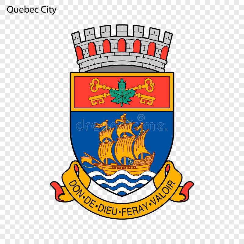 Embleem van de Stad van Quebec stock illustratie