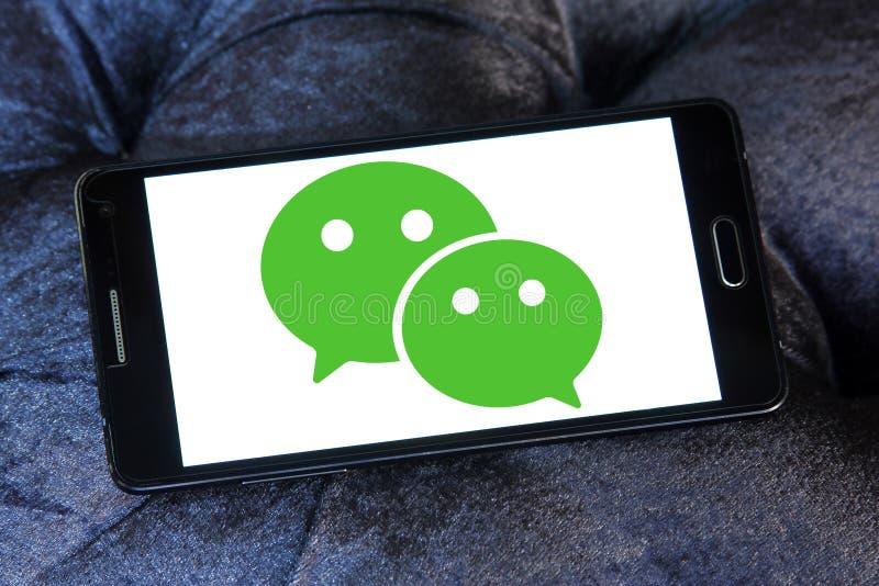 Embleem van de WeChat het mobiele toepassing stock fotografie
