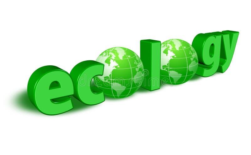 Embleem van ecologie royalty-vrije illustratie