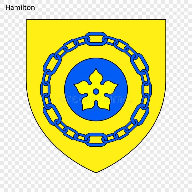 Embleem van Hamilton royalty-vrije illustratie