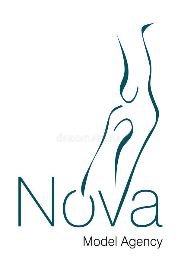 Embleem van het Agentschap van de nova het Model royalty-vrije illustratie