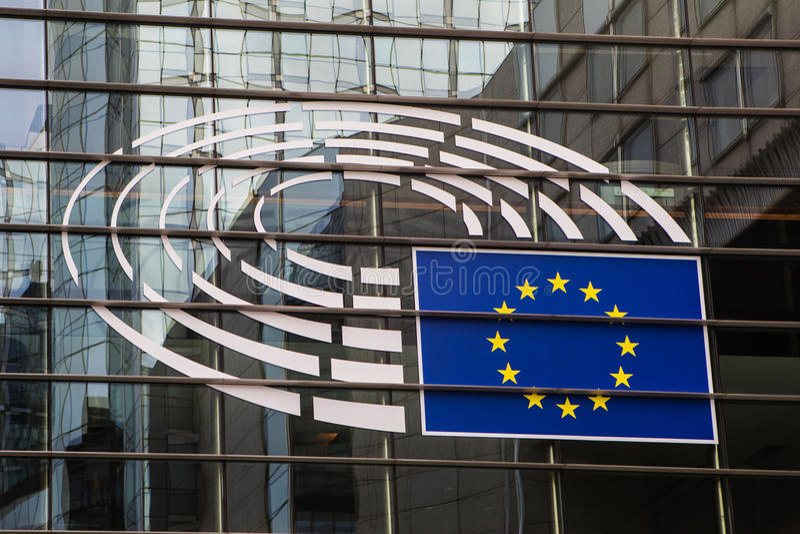 Embleem van het Europees Parlement stock fotografie