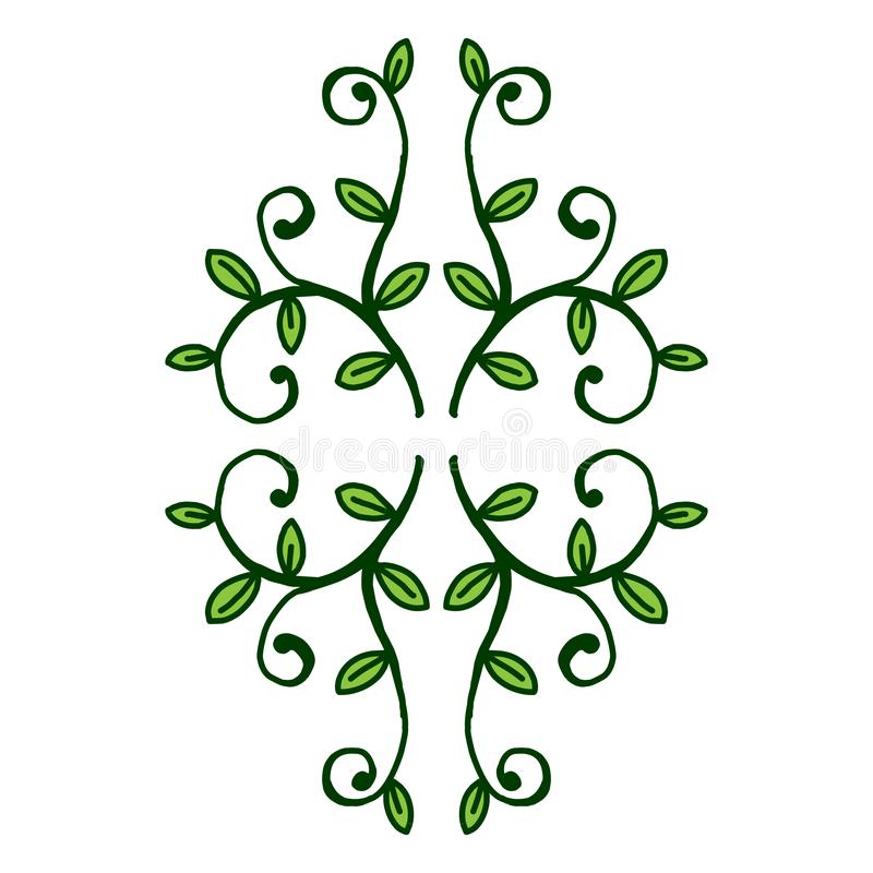 Embleem van het groene van het de aardelement van de bladecologie vectorpictogram vector illustratie