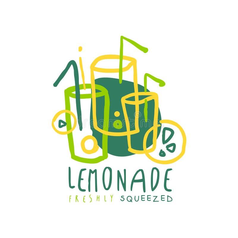 Embleem van het limonade het originele ontwerp, natuurlijk gezond productkenteken, de verse getrokken vectorillustratie van de ci royalty-vrije illustratie